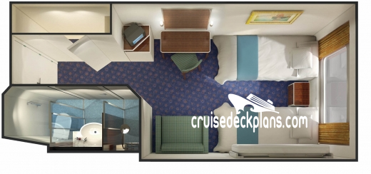 Norwegian Spirit Oceanview Diagram Layout