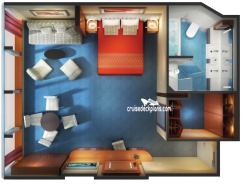 Norwegian Dawn Family Suite Details