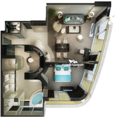 Haven Deluxe Owners Suite diagram