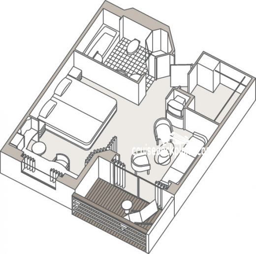 Seven Seas Voyager Penthouse Suite Diagram Layout