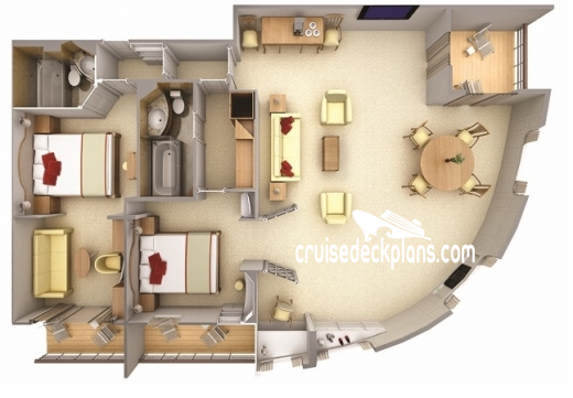 Silver Cloud Grand Suite Diagram Layout
