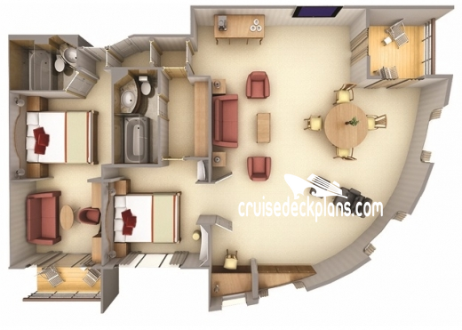 Silver Cloud Royal Suite Diagram Layout