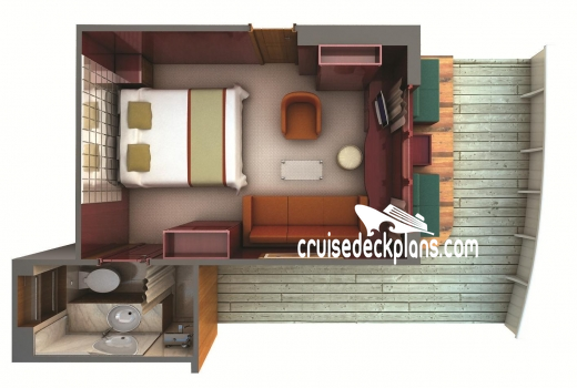 Silver Galapagos Terrace Suite Diagram Layout