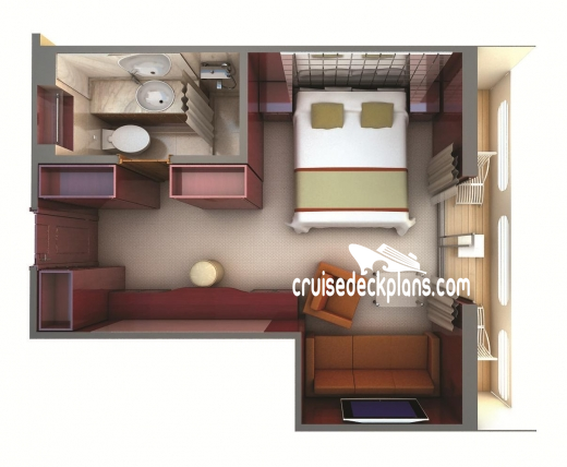 Silver Galapagos Veranda Suite Diagram Layout