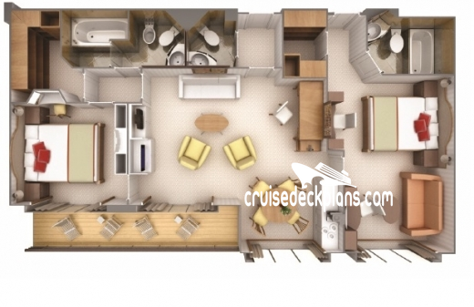 Silver Wind Owner Suite Diagram Layout