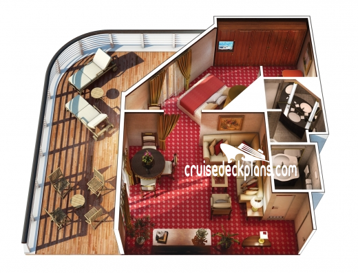 Sirena Owner and Vista Suite Diagram Layout