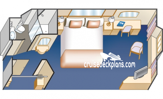 Sun Princess Oceanview Diagram Layout