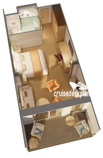 Viking Ocean Sun Penthouse Junior Suite Diagram Layout