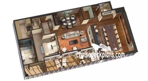 Viking Sea Owners Suite Diagram Layout