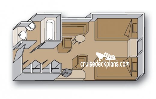 Volendam Oceanview Diagram Layout