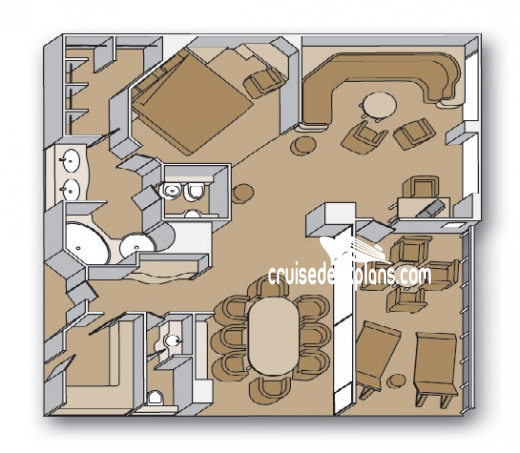 Zaandam Pinnacle Suite Diagram Layout
