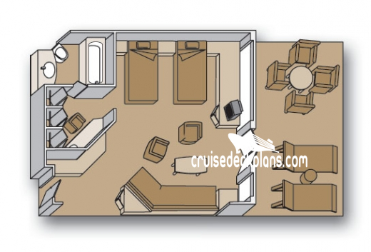 Zaandam Neptune Suite Diagram Layout