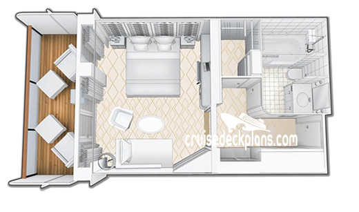 Queen Mary Princess Suite Diagram Layout