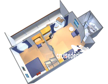 Empress of the Seas Owners Suite Diagram Layout