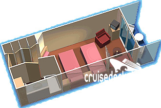 Empress of the Seas Junior Suite Diagram Layout