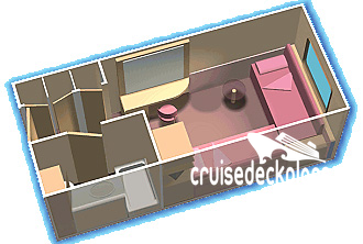 Empress of the Seas Oceanview Diagram Layout
