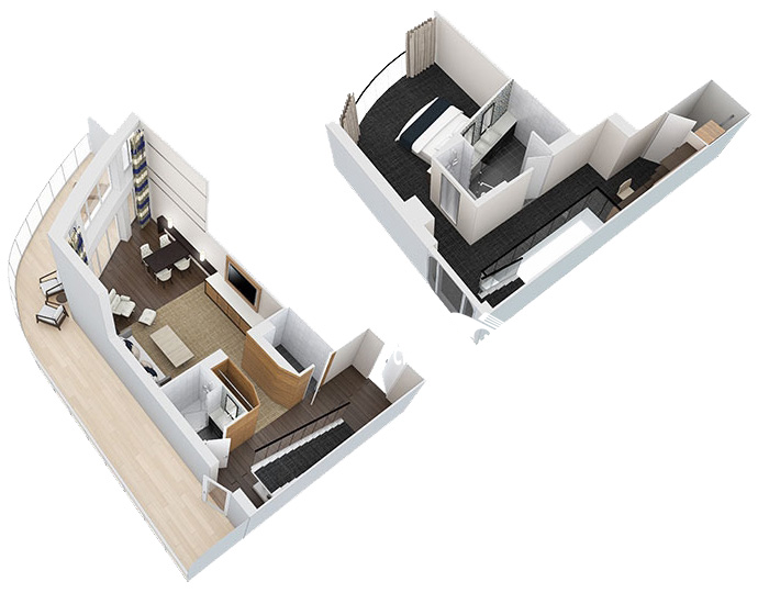 Ovation of the Seas Owner Loft Suite Diagram Layout