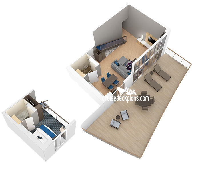 Harmony of the Seas Star Loft Suite Diagram Layout