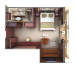 Deluxe Veranda Suite diagram