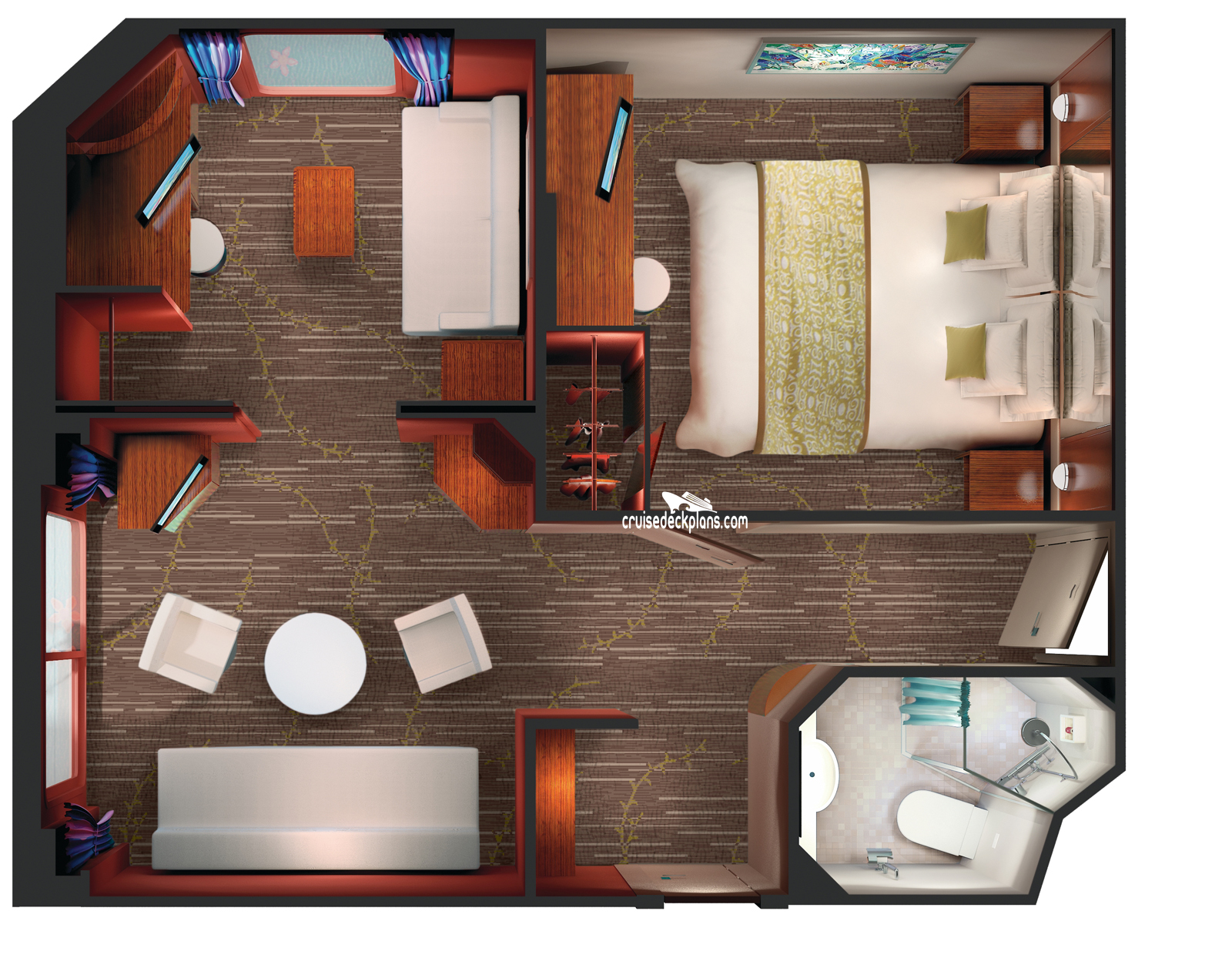 Pride Of America 2 Bedroom Family Suite Stateroom