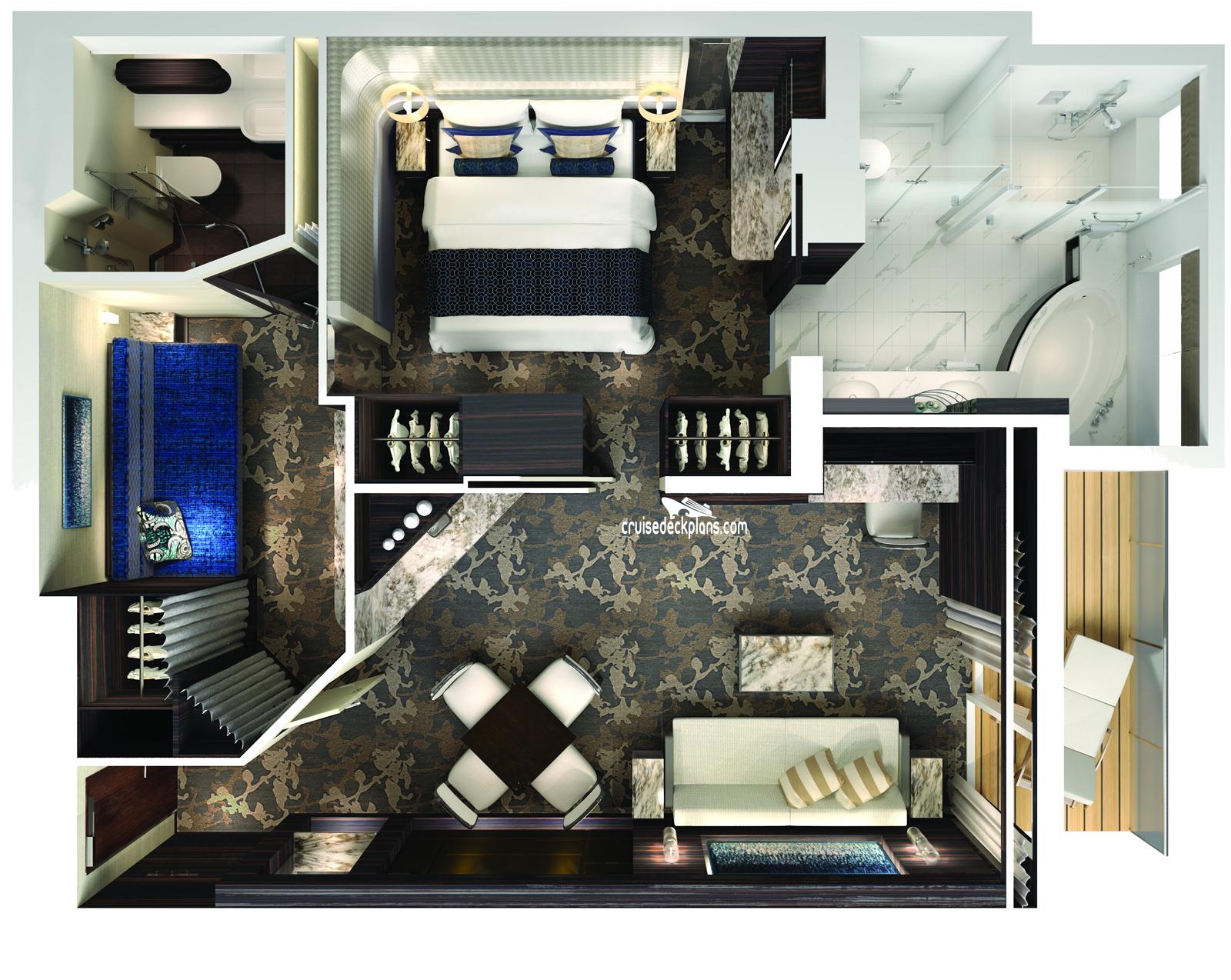 Norwegian Joy Haven 2 Bedroom Family Villa Stateroom