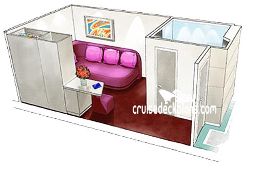 MSC Meraviglia Single Interior Stateroom