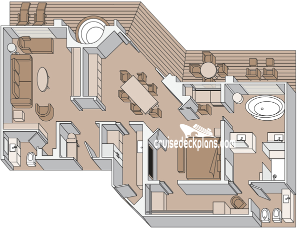 Koningsdam Pinnacle Suite Diagram Layout