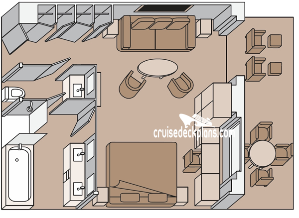 Koningsdam Neptune Suite Diagram Layout