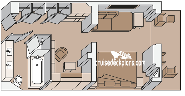 Koningsdam Signature Suite Diagram Layout