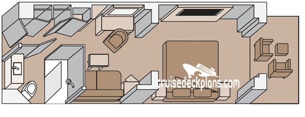Koningsdam Vista Diagram Layout