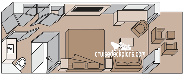 Koningsdam Verandah Diagram Layout