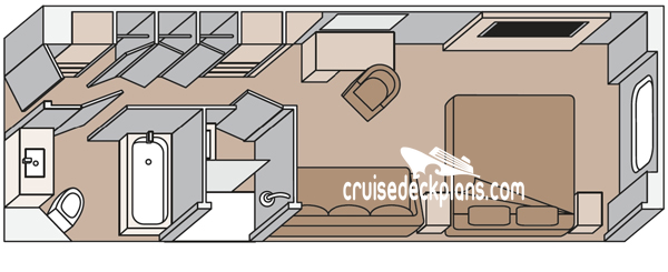 Koningsdam Family Oceanview Diagram Layout