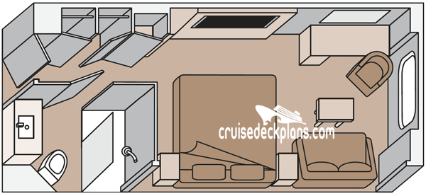Koningsdam Oceanview Diagram Layout