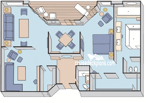 Crystal Serenity Crystal Penthouse Diagram Layout