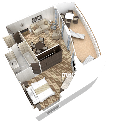 Azamara Quest Club Ocean Suite Diagram Layout