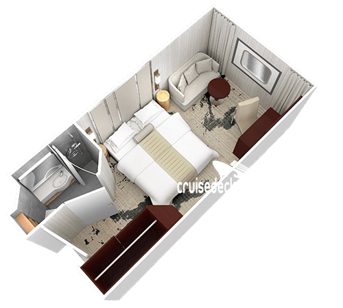 Azamara Quest Club Oceanview Diagram Layout