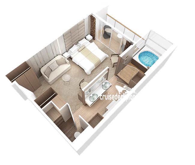 Azamara Quest Club Spa Suite Diagram Layout