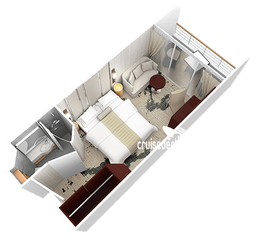 Azamara Quest Club Deluxe Verandah Diagram Layout