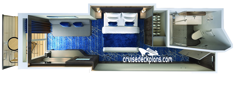 Norwegian Joy Mini-Suite Diagram Layout