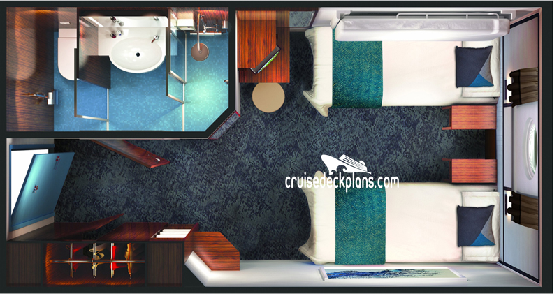 Norwegian Jade Oceanview Diagram Layout