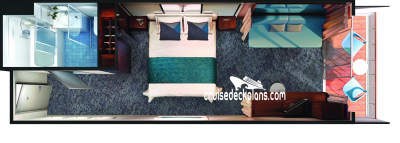 Norwegian Jade Mini-Suite Diagram Layout