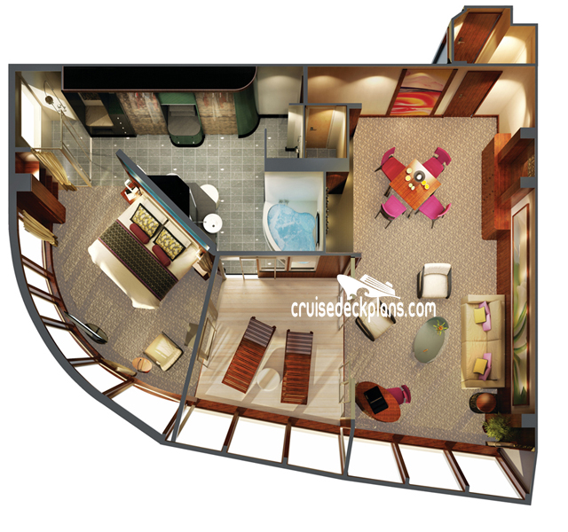 Norwegian Epic The Haven Owners Suite Diagram Layout