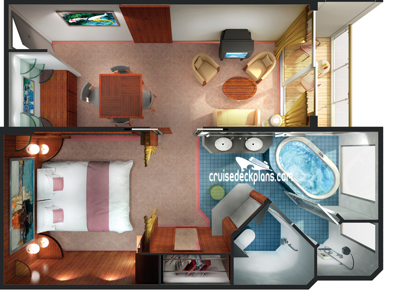 Norwegian Spirit Deluxe Penthouse Diagram Layout