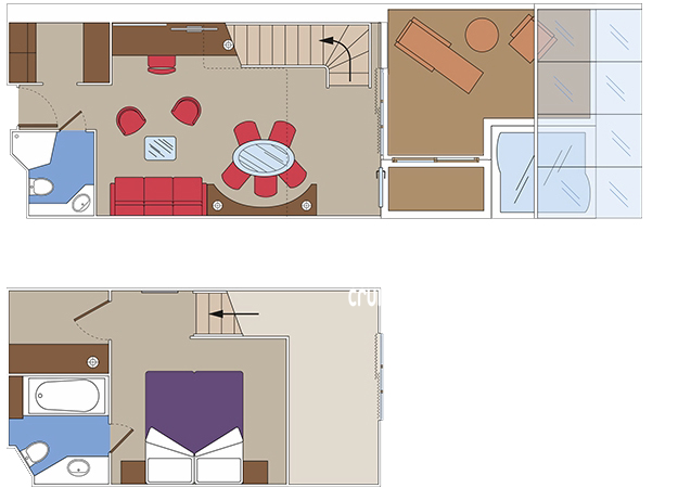 MSC Meraviglia Duplex Suite Diagram Layout