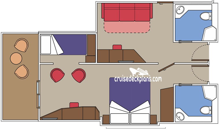 MSC Meraviglia Family Balcony Diagram Layout