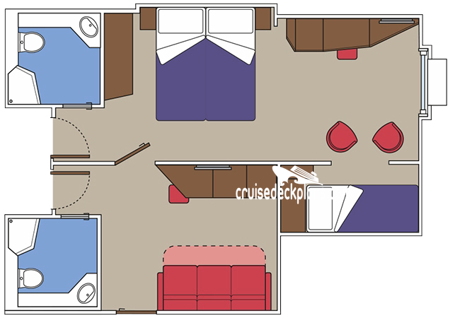 MSC Meraviglia Family Oceanview Diagram Layout