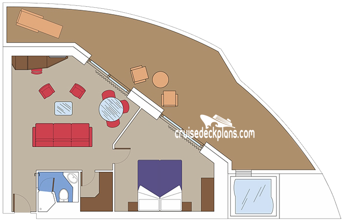MSC Meraviglia Balcony Suite Diagram Layout