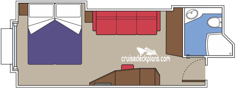 MSC Meraviglia Oceanview Diagram Layout