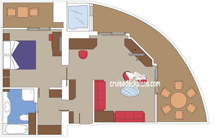 MSC Meraviglia Yacht Club Royal Suite Diagram Layout