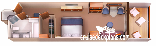 Seabourn Encore Veranda Suite Diagram Layout